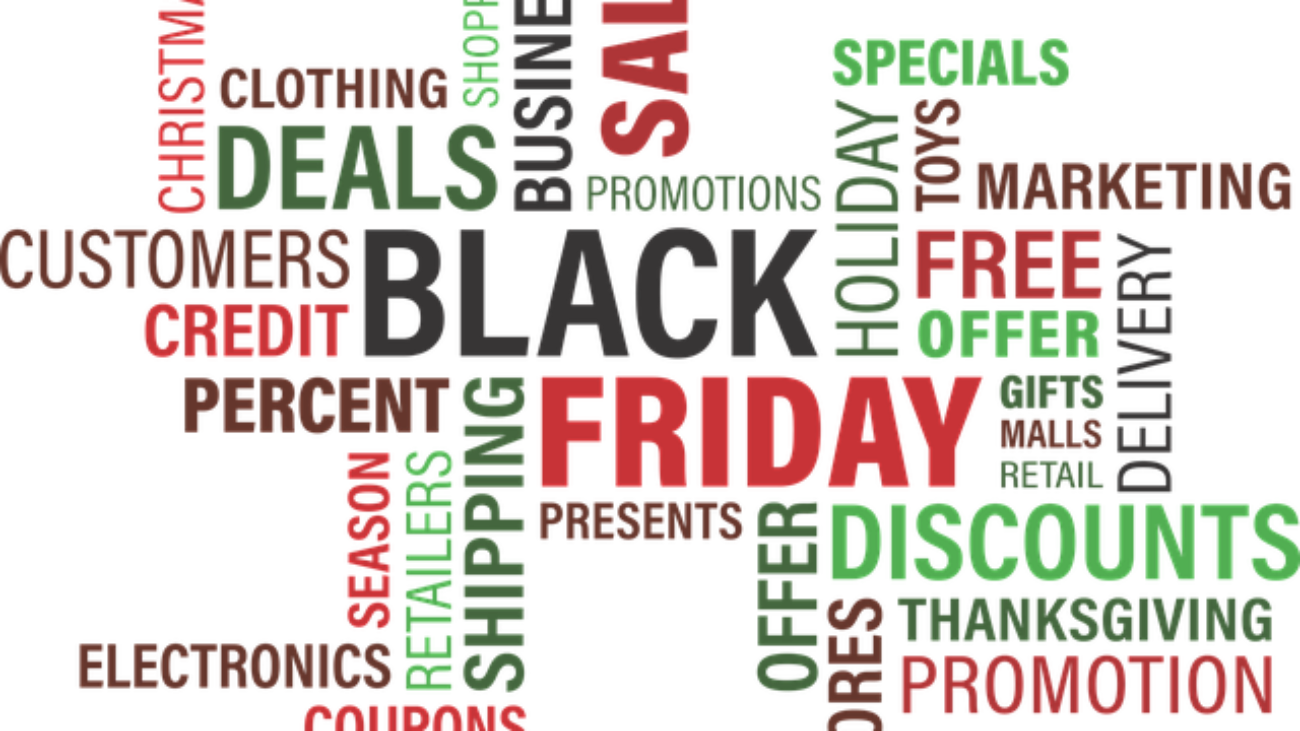 Various words describing black friday. Alliance United workplace safety services in New England.