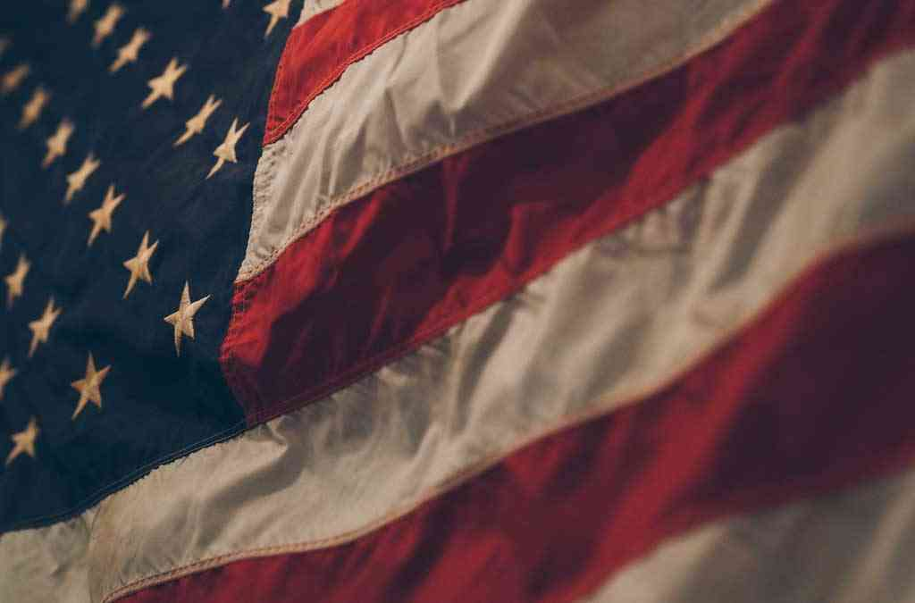 an american flag waving for veterans day