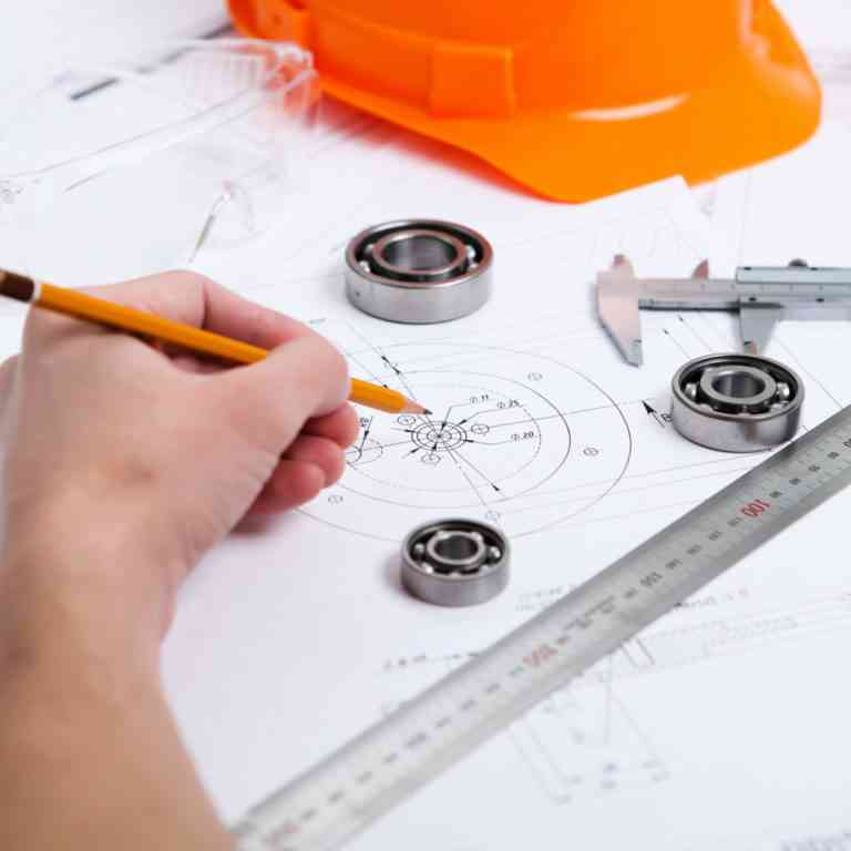 hand drawing construction plans